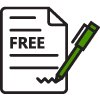free commercial tree quotes icon.